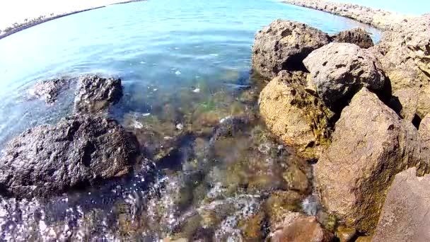 Marina tranquility over rocks
