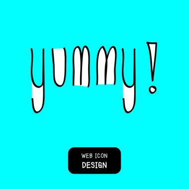 Yummy! doodle style vector design element