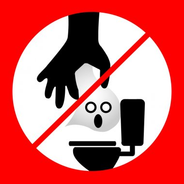 Do not Dispose tissue paper- toilet vector