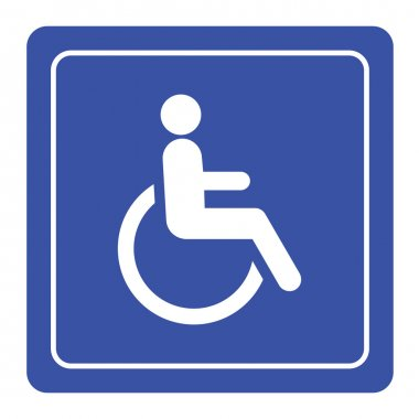 Disabled handicap icon sign vector