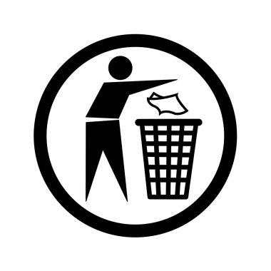 Do not litter vector