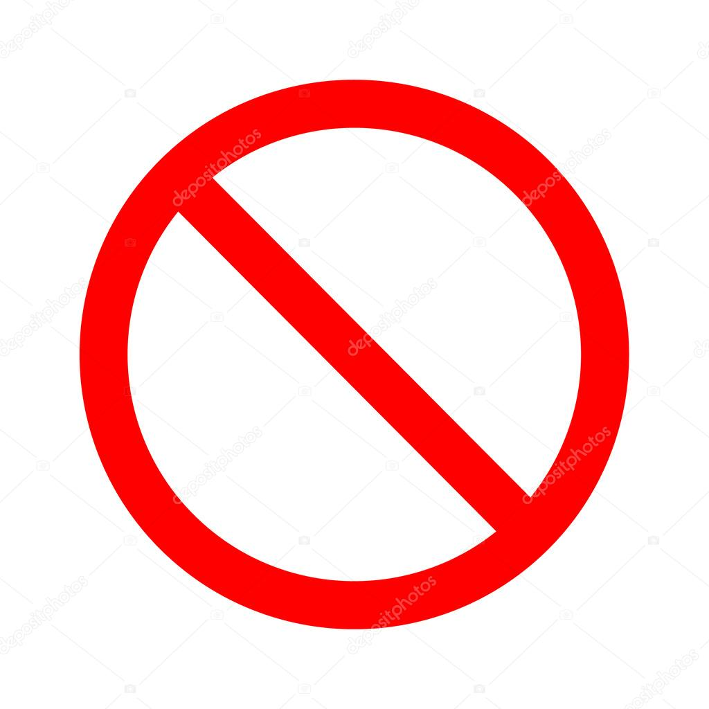 Not allowed sign vector — Stock Vector © yayha #62745719