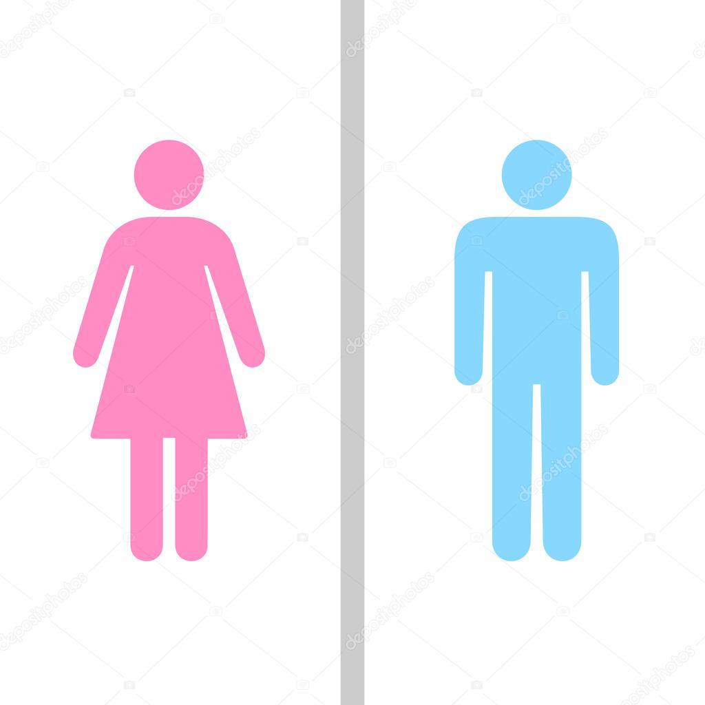 Vector Hombre Mujer Simbolo Hombre Y Mujer Baño Signo Símbolo De