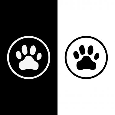 Animals footprints black and white color vector