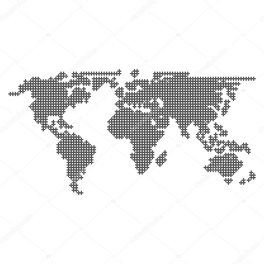 Dotted world map vector stock vector yayha 65130767 dotted world map vector and icon great for any use vector by yayha gumiabroncs Choice Image