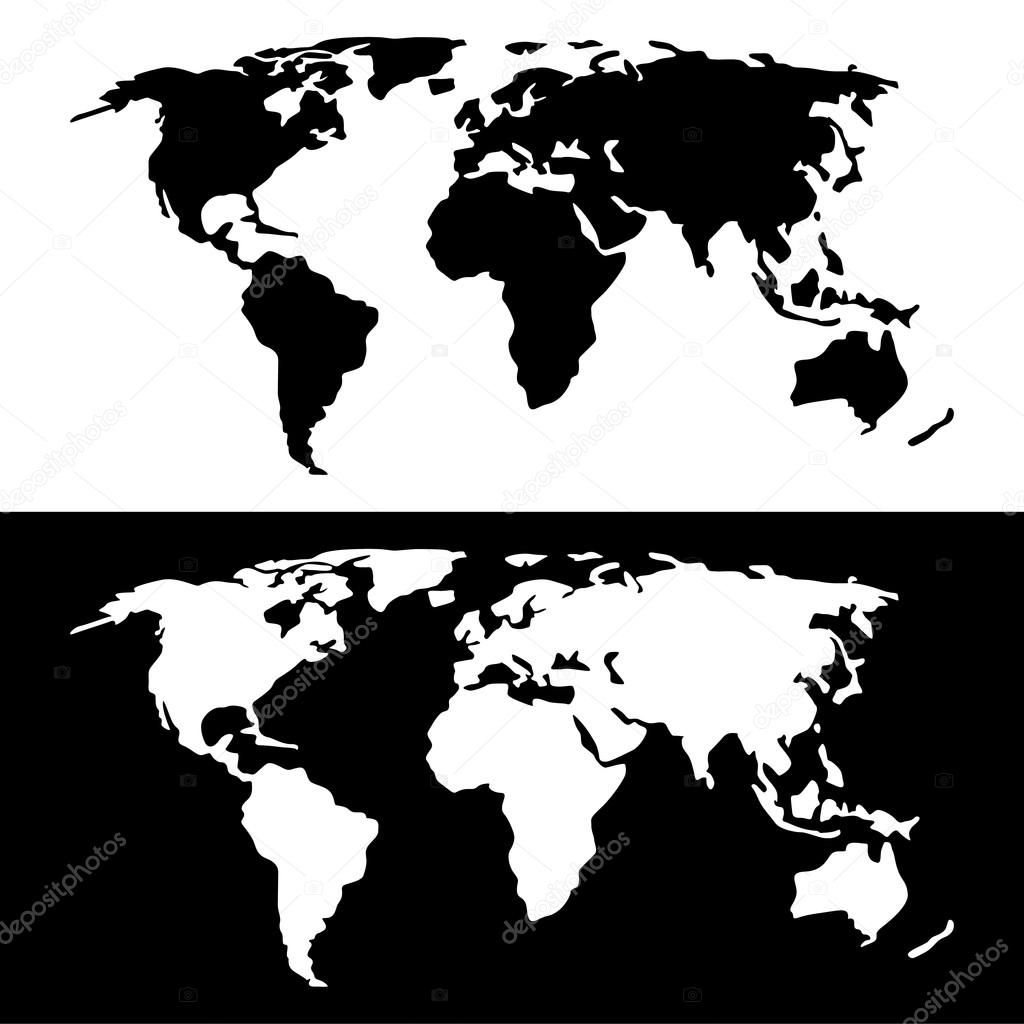 World map black and white archivo imgenes vectoriales yayha world map black and white archivo imgenes vectoriales gumiabroncs Images