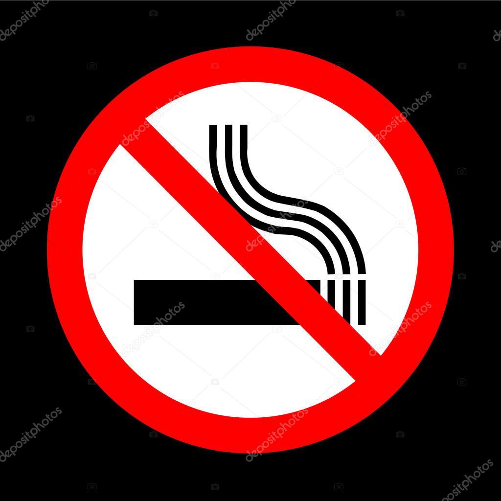 Pity, No smoking sign vector sorry