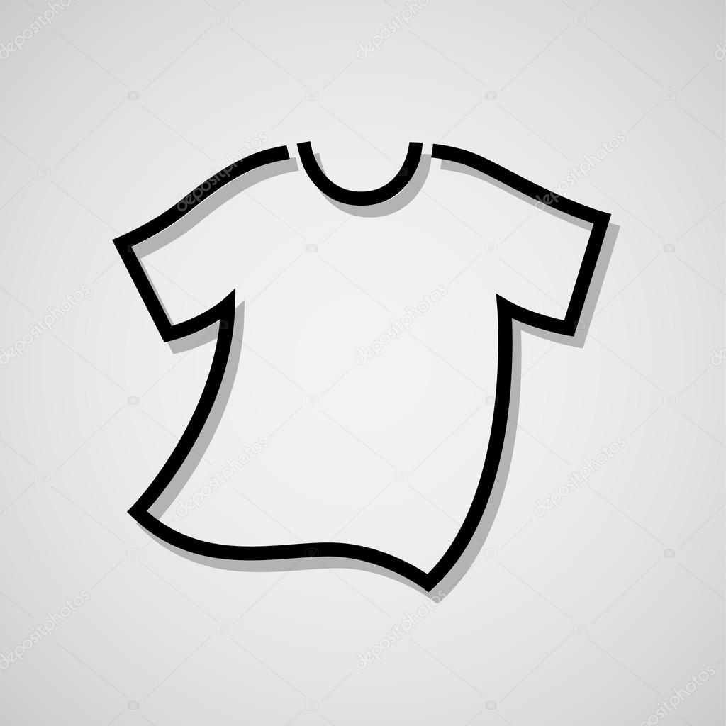 vector white blank tshirt icon symbol stock vector c yayha 65847683 https depositphotos com 65847683 stock illustration vector white blank tshirt icon html