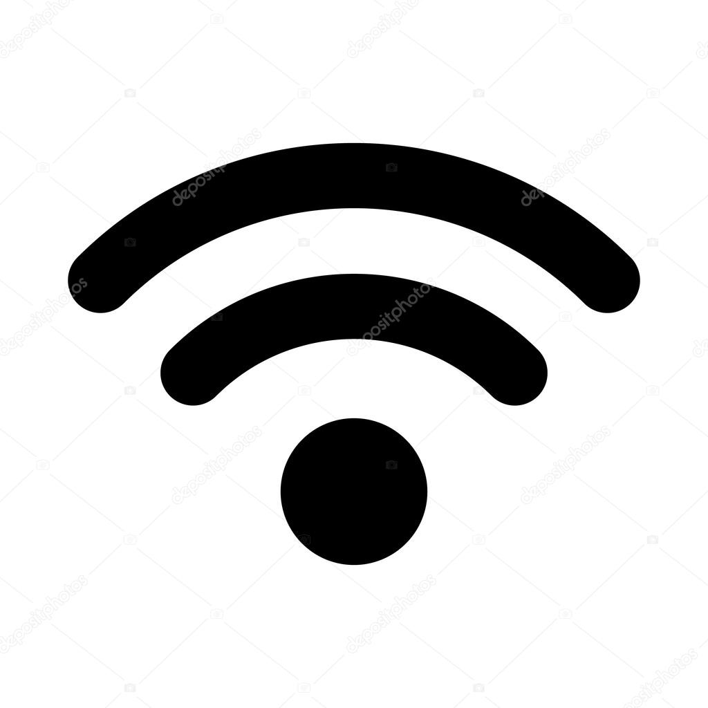vector wifi icon on white background stock vector yayha 67143459 rh depositphotos com no wifi icon vector wifi icon vector download