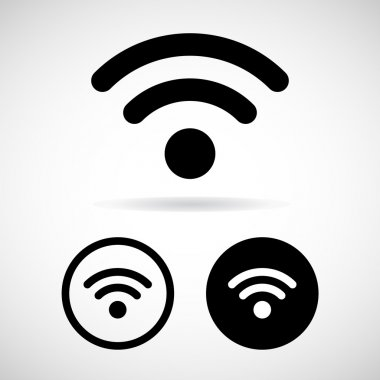 Vector wifi icon on white background