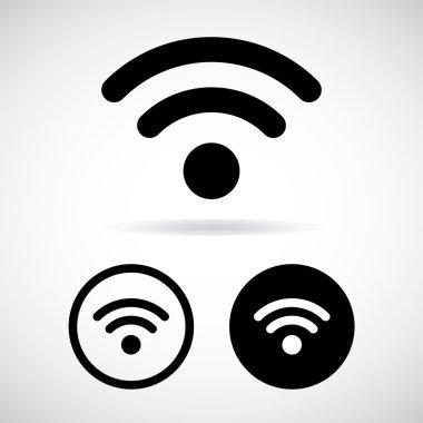 Vector wifi icon on white background