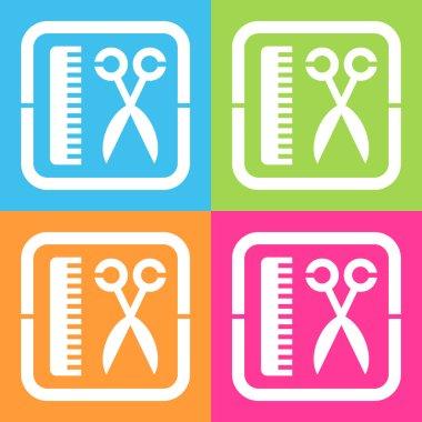 Hair salon (haircut or hair salon symbol)