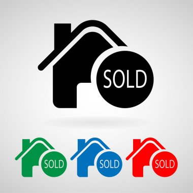 Sold vector home image to be used in web app, mobile app and print media, EPS10