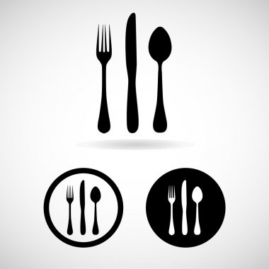 Fork spoon knife vector and icon, EPS10