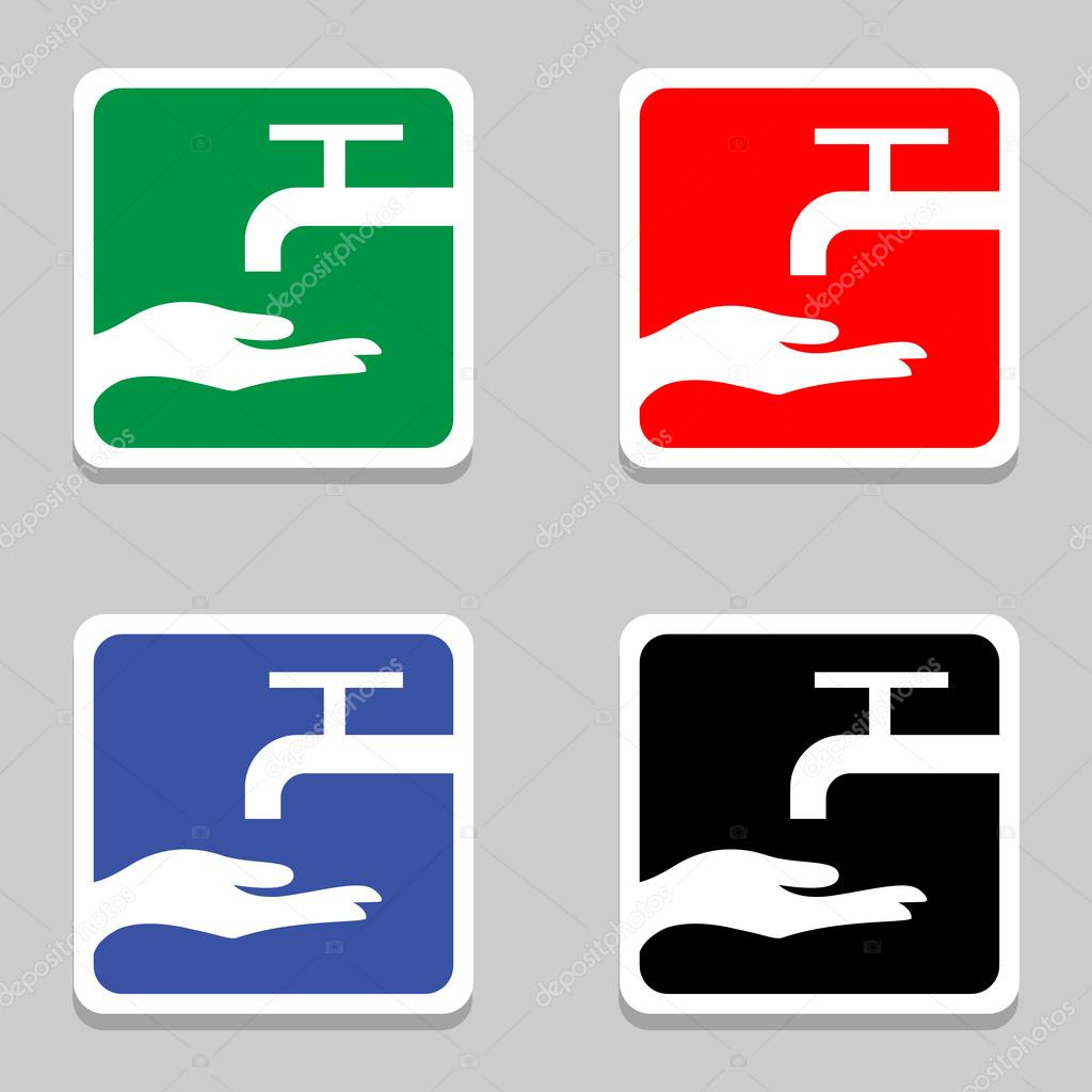 Vector Please Wash Your Hands Sign Please Wash Your Hands Icon