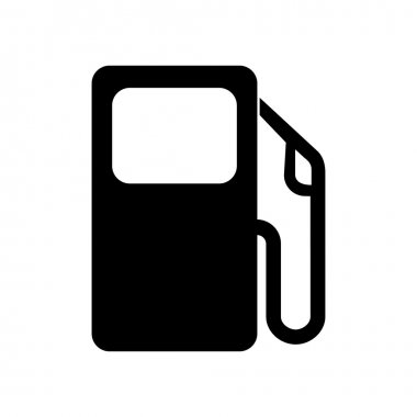 Vector gas pump icon or sign, EPS10