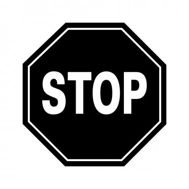 Vector stop sign and icon, EPS10