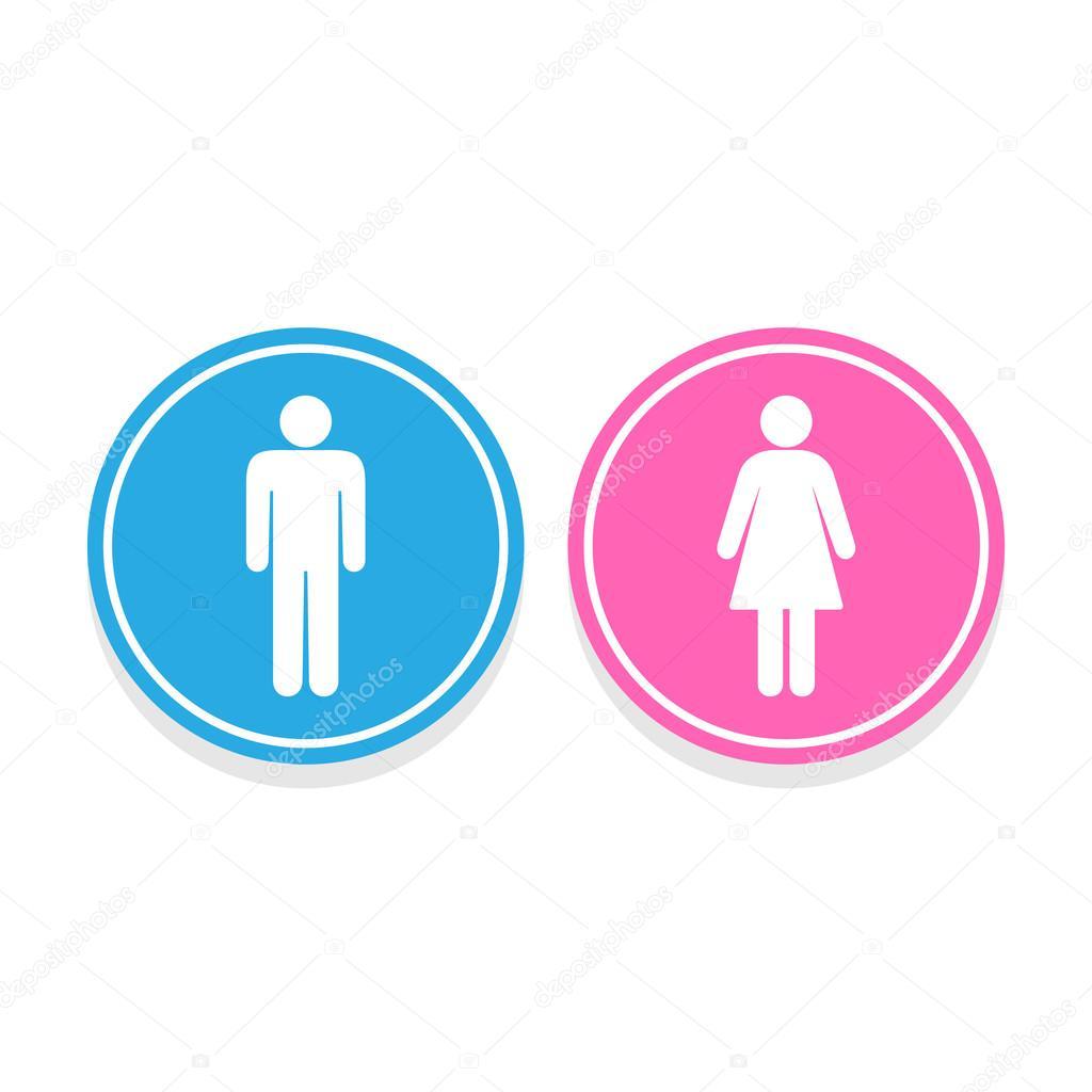 Hombre Y Mujer Baño Signo Ilustración Vectorial Vector De Stock