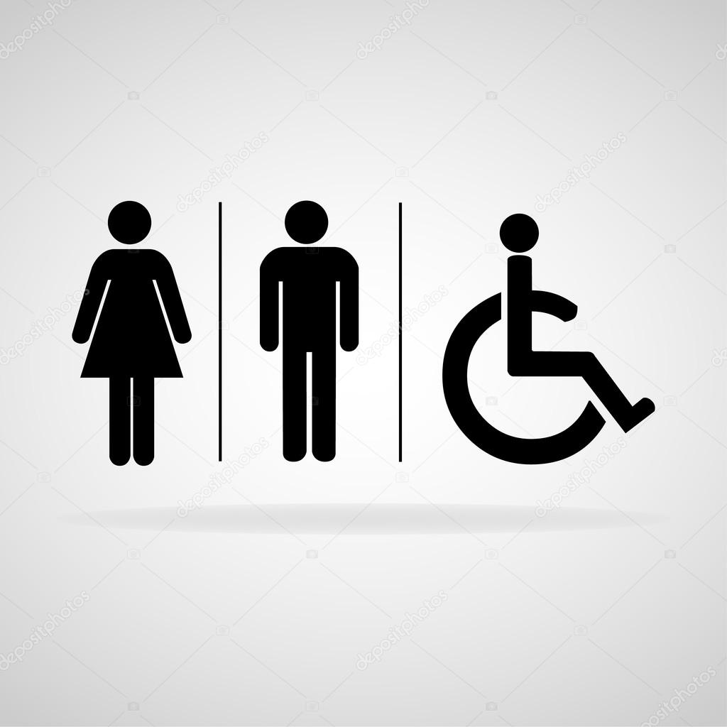 Man and lady toilet sign, Vector illustration