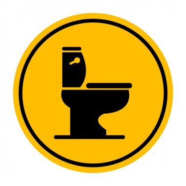 Vector toilet symbol, Illustration EPS10