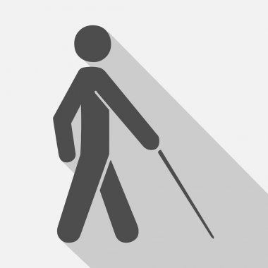 Vector blind symbol on gray background , Illustration EPS10