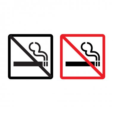 Vector no smoking sign on white background, Illustration EPS10