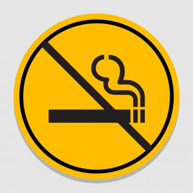 Vector no smoking sign on gray background, Illustration EPS10