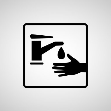 Vector please wash your hands sign, Illustration EPS10