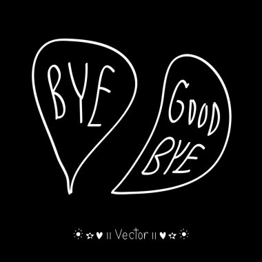 Vector hand-drawn with letter