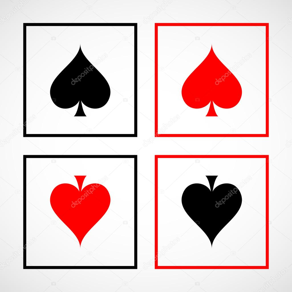 Vector Playing Card Spade Suit Flat Icon For Apps And Websites