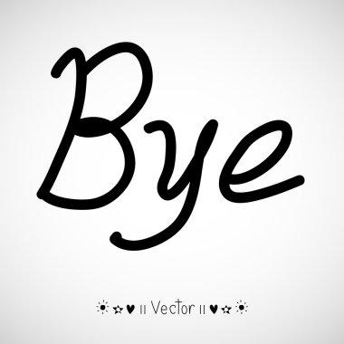Vector goodbye bye comic bubble text pop art retro style, Illustration EPS10