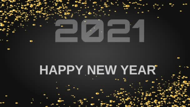Animované pozdravy pro šťastný nový rok 2021 ručně kreslené. Rozlišení videa Motion Graphic.4K.