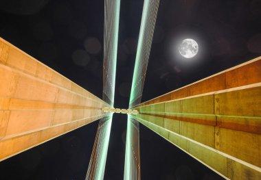 South bridge night. Ukraine. Kiev.