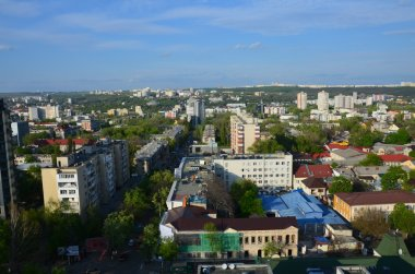 Chisinau, the capital city of the Republic of Moldova. Aerial view of the central park, from drone. Chisinau is the name of the city