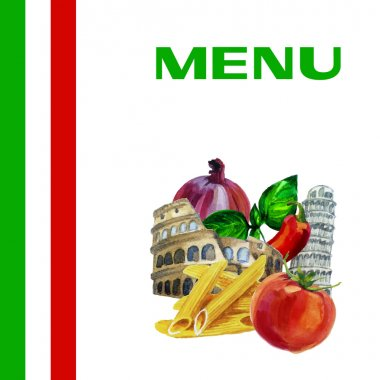 Italian cuisine menu design background