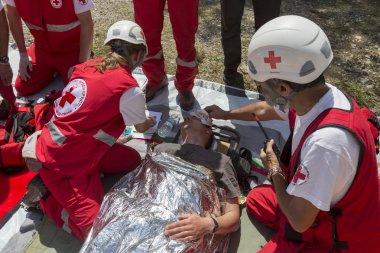Volunteers Red Cross voluntery organization