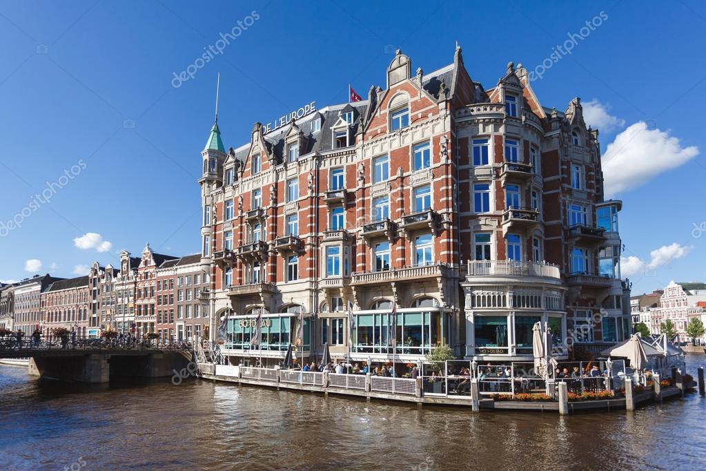 Famous Hotel In Amsterdam Stock Editorial Photo C Castenoid 115752620