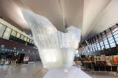 Belső tér modern épület Lech Valesa repülőtér