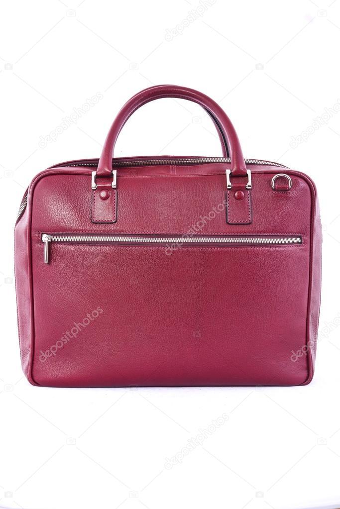 f70c53e6b02 Crimson kabelku na bílém pozadí — Stock Fotografie © vi0222  80519490