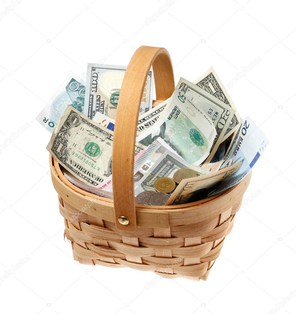 быстро поделиться корзины с деньгами картинки российском