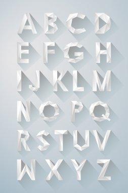 Vector alphabet 3d letters geometrey
