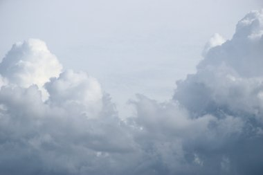 Photos sky with fluffy clouds