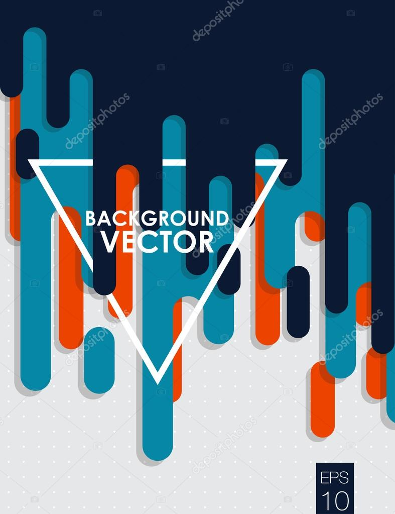 vector abstract background with paint pouring around triangle