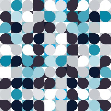 vector circle mosaic seamless pattern background