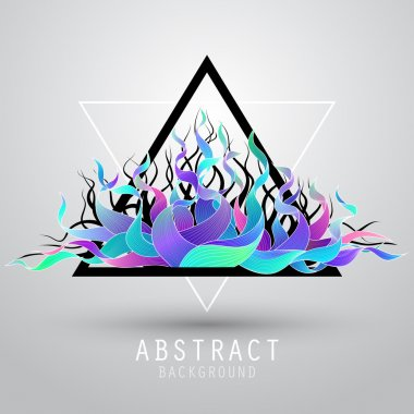 Vector abstract background with triangle and color wave. EPS10
