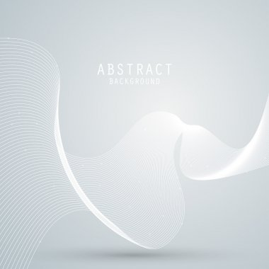 Vector abstract background with white mesh, waves lines. EPS10
