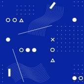vektorové abstraktní kompozice, modré a bílé pozadí
