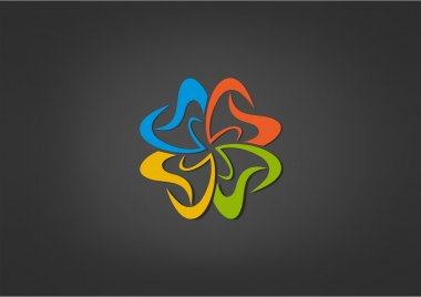 Abstract Gear  logo business icon team Work  color tool symbol Healty Abstract