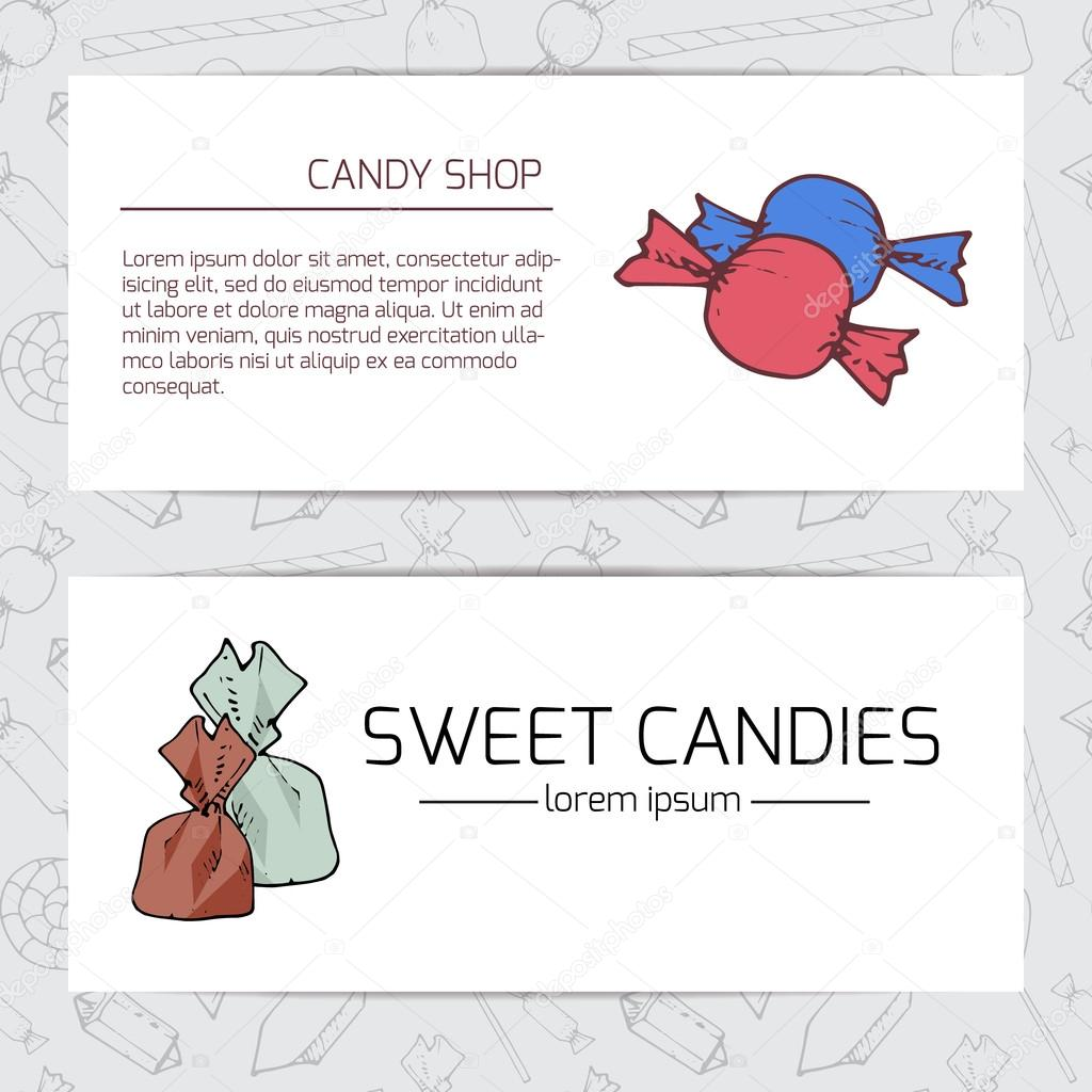 Business card with candies. — Stock Vector © Lanka69 #85268838
