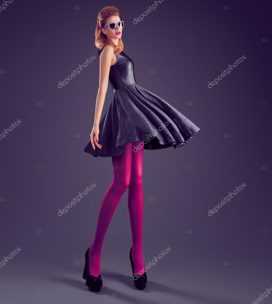 Moda mujer, vestido de lentejuelas de Glamour. Traje de fiesta ...